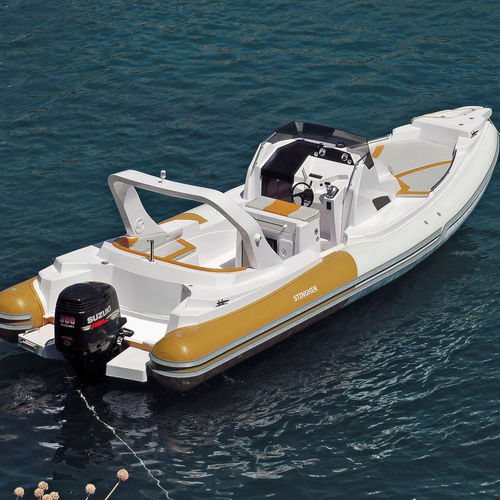 inboard inflatable boat / rigid / center console / 12-person max.