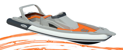 inboard inflatable boat / rigid / center console / sundeck