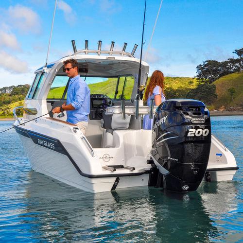 outboard cabin cruiser / hard-top / sport-fishing