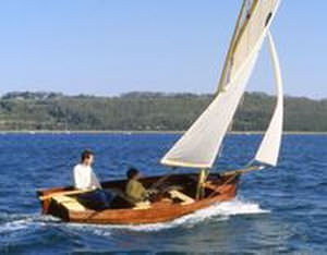 classic open sailing/rowing boat