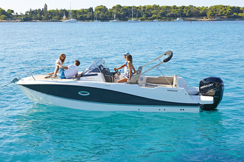 outboard walkaround / 8-person max. / twin-berth / sundeck