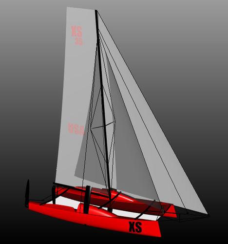 sailing catamaran / cruising-racing / open transom