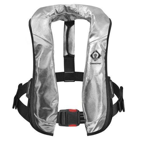 self-inflating life jacket / 275 N / fire-retardant / professional