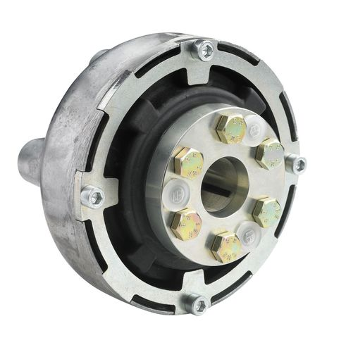flexible mechanical coupling / for boats / for shafts