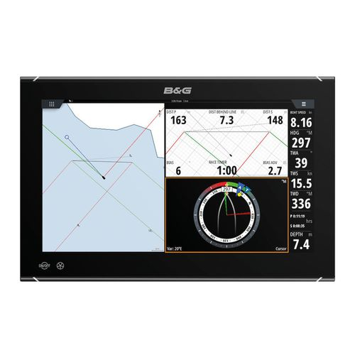 racing sailboat display / multi-function / digital / touch screen