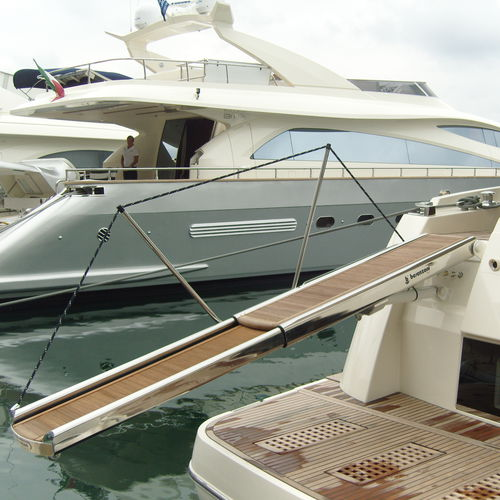 boat gangway / for yachts / telescopic / multifunction