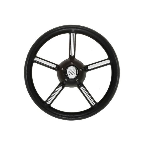 polyurethane-coated power boat steering wheel