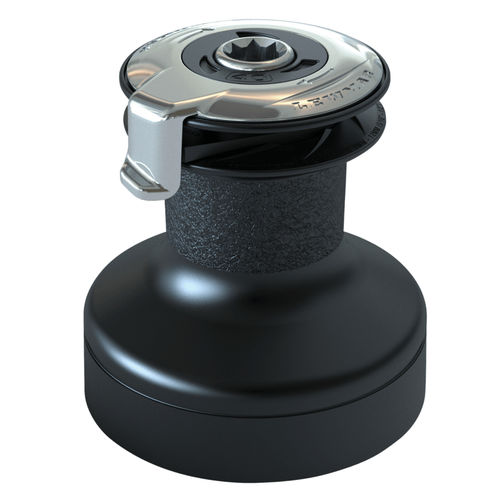 self-tailing sailboat winch / single-speed / chrome / alloy