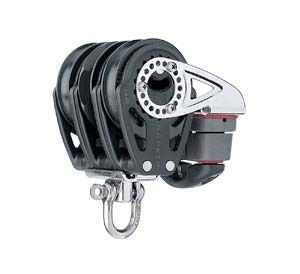 ratchet block / cam cleat / triple / with swivel
