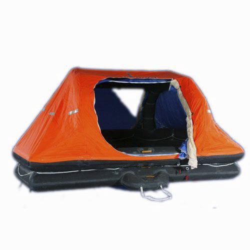 ship liferaft / SOLAS / throw-overboard / inflatable
