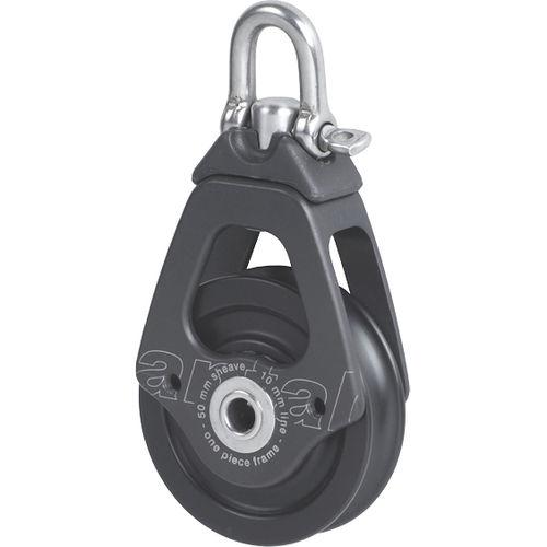 plain bearing block / single / with swivel / max. rope ø 10 mm
