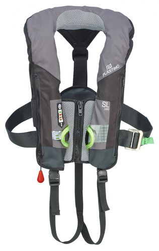 self-inflating life jacket / 180 N / with safety harness