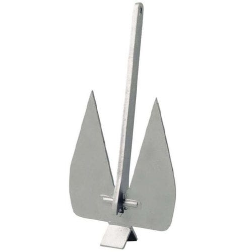 flat anchor / for boats / galvanized steel