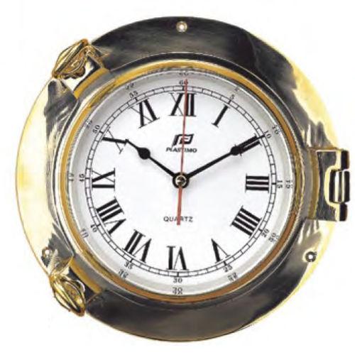 analog clock / brass