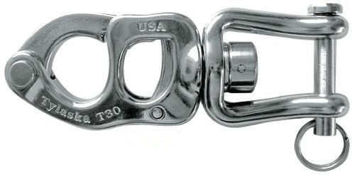 snap shackle with shackle / quick-release / multi-purpose