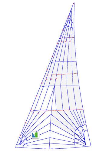 genoa / for cruiser-racer sailboats / tri-radial cut