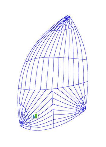 asymmetric spinnaker / for racing sailboats