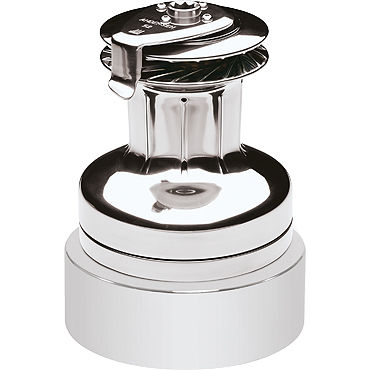 electric sailboat winch / self-tailing / 2-speed / stainless steel