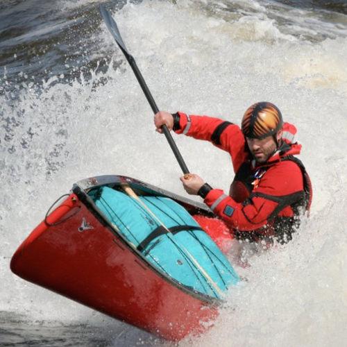 white-water canoe / 2-person / fiberglass