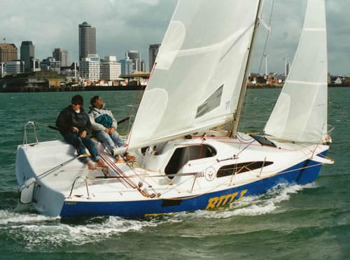 monohull / cruising-racing / open transom / transportable