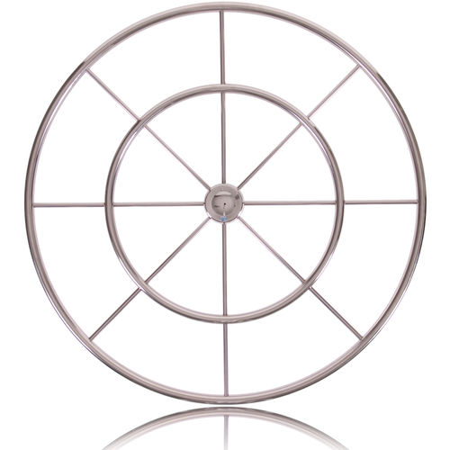 stainless steel power boat steering wheel