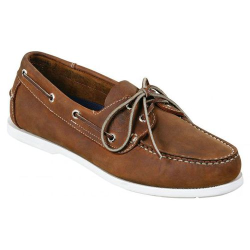 deck shoes / women's / leather