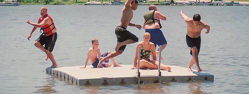 recreation center platform / floating / swim / modular