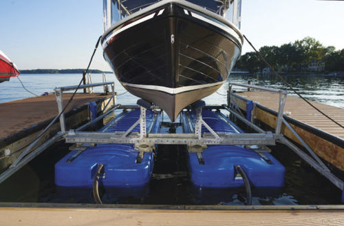 boat lift / floating / galvanized steel