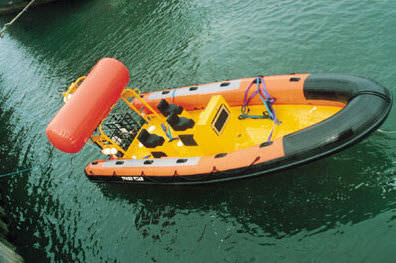inflatable boat self-righting system