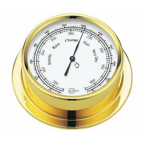 analog barometer / brass