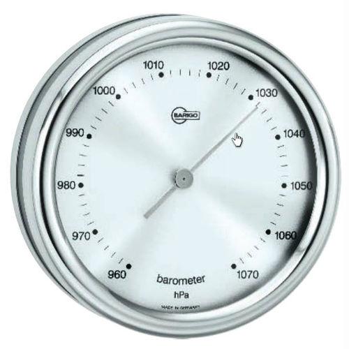 analog barometer / stainless steel
