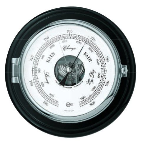 analog barometer / chrome