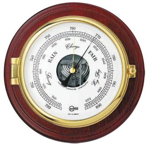 analog barometer / brass / chrome