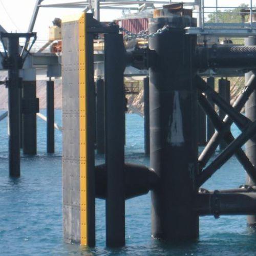 harbor fender / pier / parallel motion