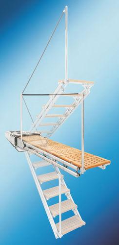 yacht gangway / for boats / multifunction / hydraulic