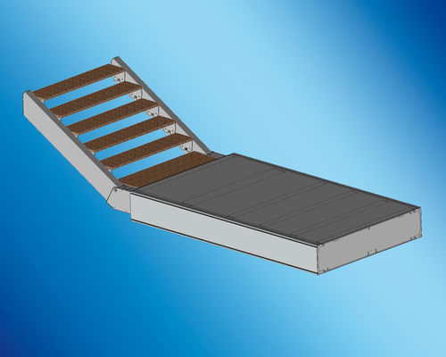 boat gangway / for yachts / multifunction / stainless steel