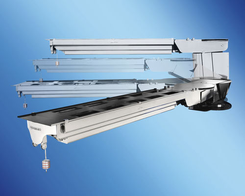 yacht gangway / for boats / rotating / telescopic