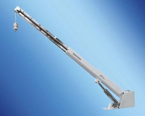 boat davit / for yachts / manual / hydraulic