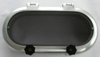 rectangular portlight / for boats / opening / with rounded sides