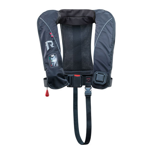 self-inflating life jacket / 170 N / with safety harness