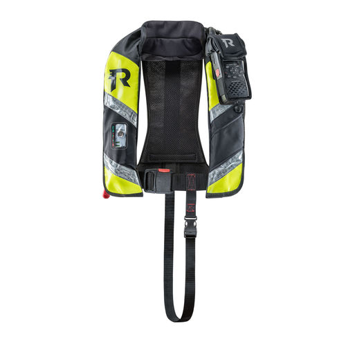 self-inflating life jacket / 170 N / with safety harness / professional