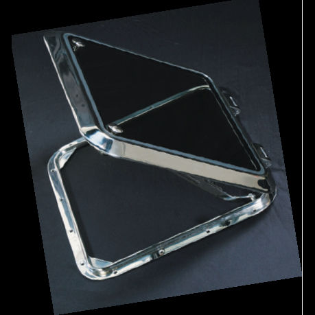 boat deck hatch / square / opening / stainless steel