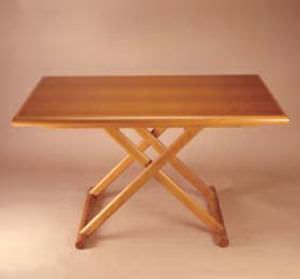 boat occasional table / folding / teak