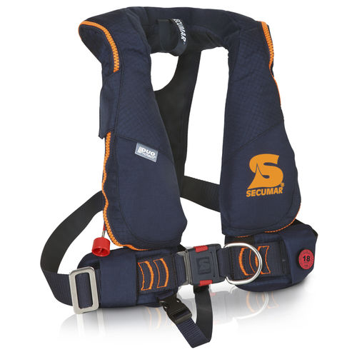 self-inflating life jacket / 150 N / child's / with safety harness