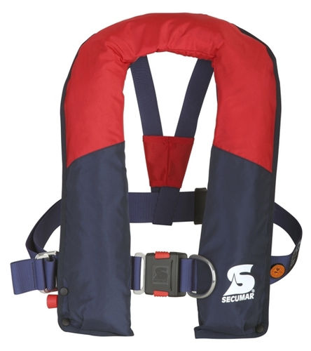 self-inflating life jacket / 220 N / with safety harness / for fishing