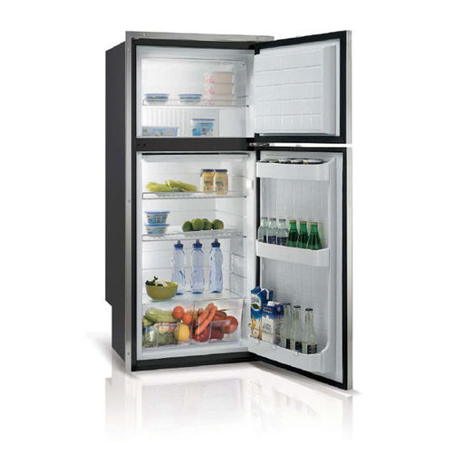 boat refrigerator-freezer / built-in / stainless steel
