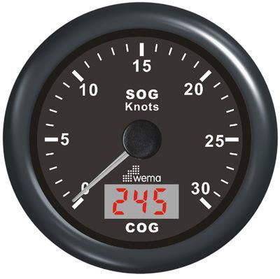 boat speed log / digital / analog