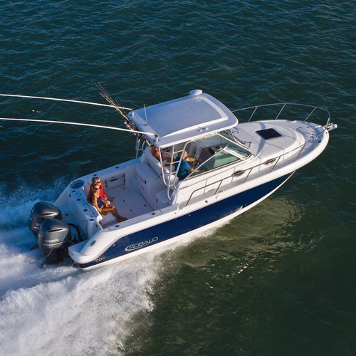 outboard walkaround / twin-engine / dual-console / sport-fishing