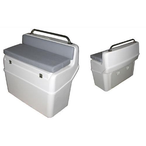 helm seat / for inflatable boats / fixed / with storage