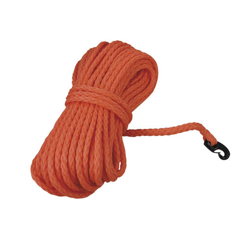 floating cordage / single braid / for boats / polyethylene core